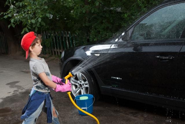 黄砂 洗車 水洗い