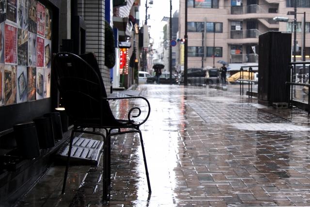 雨の日 面接 靴