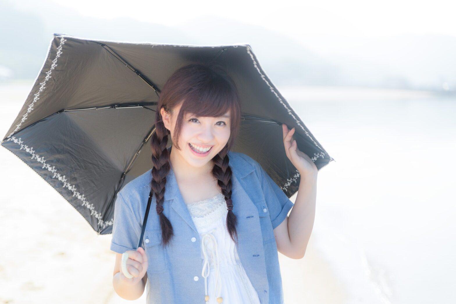 日傘 色あせ 黒